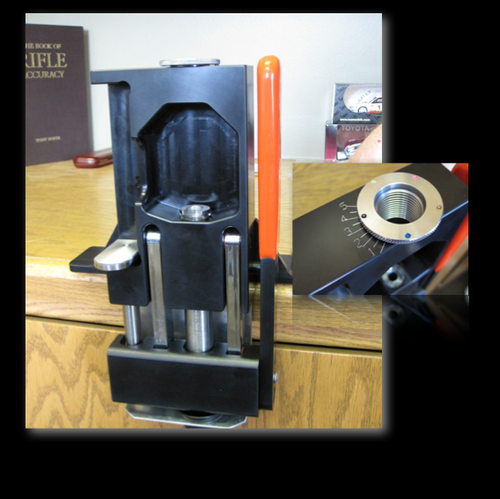 The Single Ram Press with a JLC insert shown in an inset