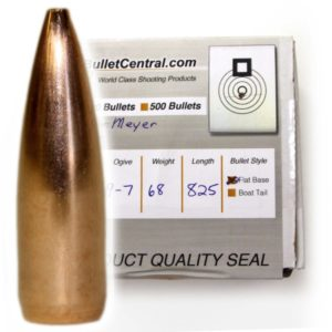 Meyer Bullets - 6 mm, 68 gr, flat base, 9-7 ogive