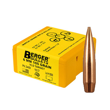 Berger Bullets 6mm 105 grain VLD Target PN: 24429
