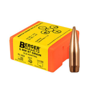 Berger Bullets 6mm 87 grain VLD Hunting PN: 24524