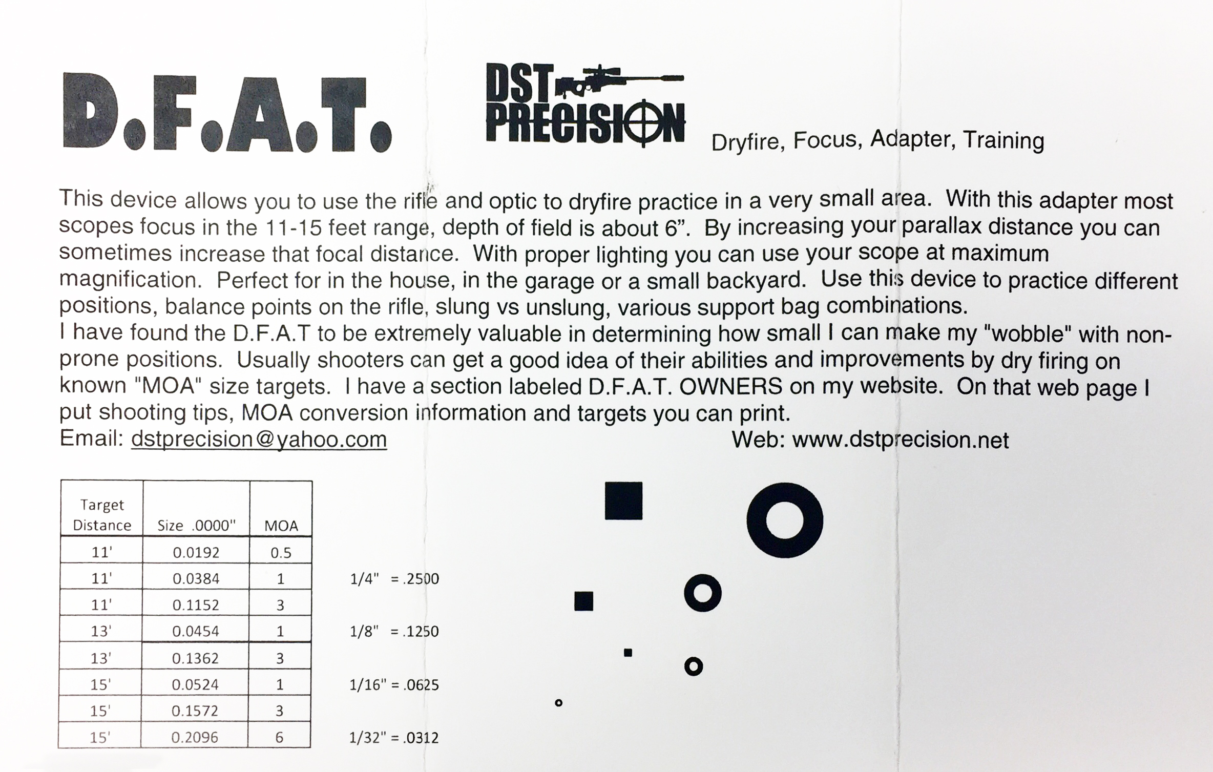 image relating to Printable Dry Fire Targets called D.F.A.T Dryfire Optical Performing exercises Adapter